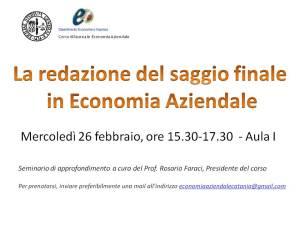 Saggio finale - seminario 26 feb